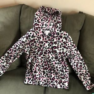Children's Place Shirts & Tops - Hooded leopard print sweater size 10/12